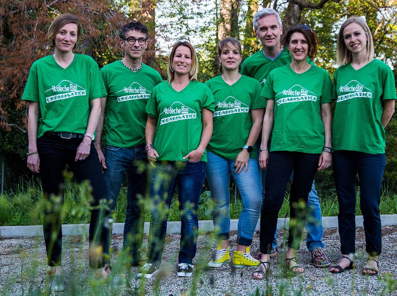 Equipe organisatrice de l'Ardèche RUn